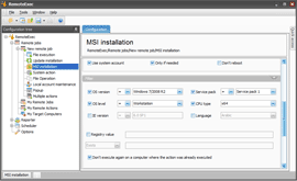 Example of MSI deployment filters
