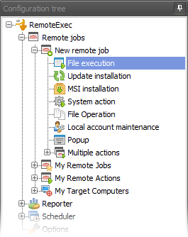 RemoteExec configuration tree