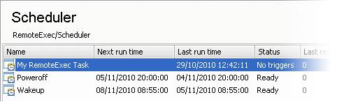 RemoteExec scheduler