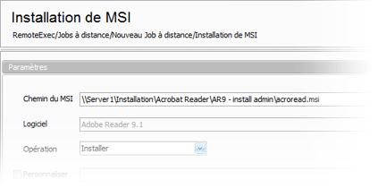 Déployer facilement des packages MSI