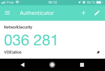 Google Authenticator application