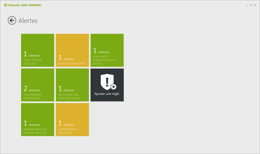 Recevez des alertes sur les anomalies dans l'activité des fichiers