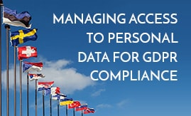 Managing access to personal data for GDPR compliance