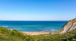 Vue sur la plage de Bidart