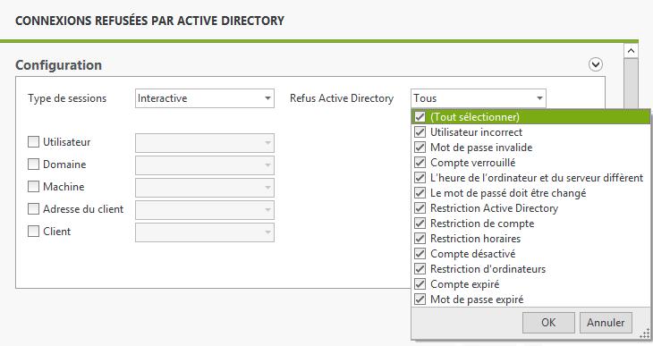 Connexions refusées par Active Directory