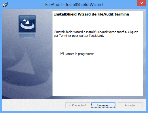 Installation de FileAudit 5 terminée
