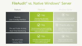 FileAudit vs. Fonctionnalités natives de Windows